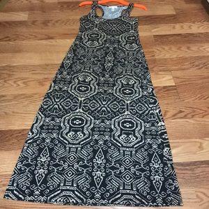 Black & Tan Maxi Dress